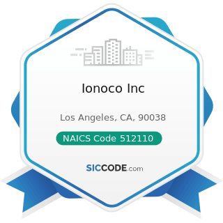 Ionoco Inc - NAICS Code 512110 - Motion Picture and Video Production