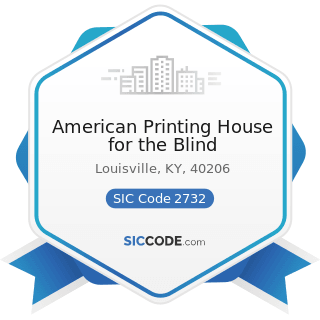 American Printing House for the Blind - SIC Code 2732 - Book Printing