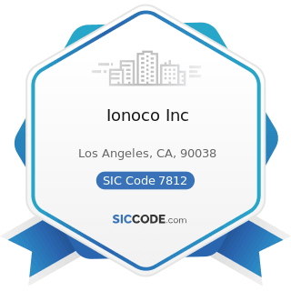 Ionoco Inc - SIC Code 7812 - Motion Picture and Video Tape Production