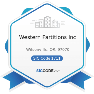 Western Partitions Inc - SIC Code 1711 - Plumbing, Heating and Air-Conditioning