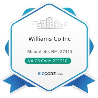 Williams Co Inc - NAICS Code 221210 - Natural Gas Distribution