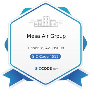 Mesa Air Group - SIC Code 4512 - Air Transportation, Scheduled
