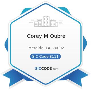 Corey M Oubre - SIC Code 8111 - Legal Services