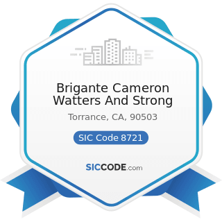 Brigante Cameron Watters And Strong - SIC Code 8721 - Accounting, Auditing, and Bookkeeping...