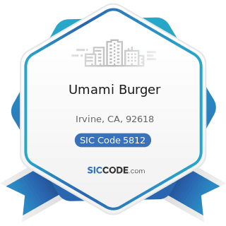 Umami Burger - SIC Code 5812 - Eating Places