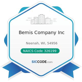 Bemis Company Inc - NAICS Code 326199 - All Other Plastics Product Manufacturing