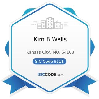 Kim B Wells - SIC Code 8111 - Legal Services