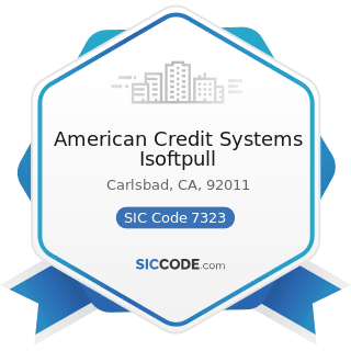 American Credit Systems Isoftpull - SIC Code 7323 - Credit Reporting Services
