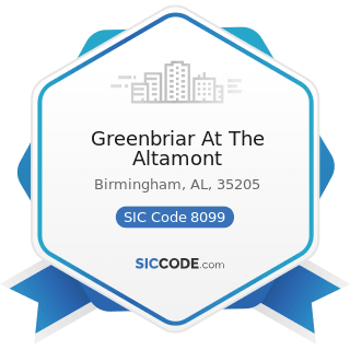 Greenbriar At The Altamont - SIC Code 8099 - Health and Allied Services, Not Elsewhere Classified