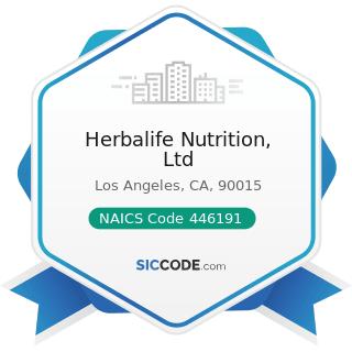 Herbalife Nutrition, Ltd - NAICS Code 446191 - Food (Health) Supplement Stores