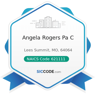 Angela Rogers Pa C - NAICS Code 621111 - Offices of Physicians (except Mental Health Specialists)