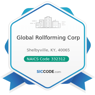 Global Rollforming Corp - NAICS Code 332312 - Fabricated Structural Metal Manufacturing