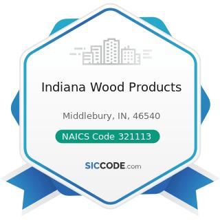 Indiana Wood Products - NAICS Code 321113 - Sawmills