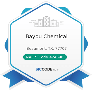 Bayou Chemical - NAICS Code 424690 - Other Chemical and Allied Products Merchant Wholesalers