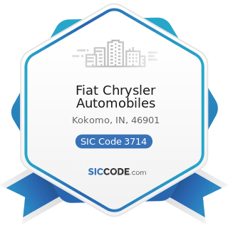 Fiat Chrysler Automobiles - SIC Code 3714 - Motor Vehicle Parts and Accessories