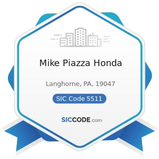 Mike Piazza Honda - SIC Code 5511 - Motor Vehicle Dealers (New and Used)