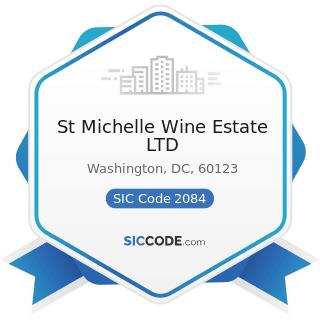 St Michelle Wine Estate LTD - SIC Code 2084 - Wines, Brandy, and Brandy Spirits
