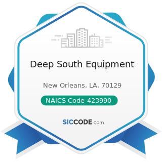 Deep South Equipment - NAICS Code 423990 - Other Miscellaneous Durable Goods Merchant Wholesalers