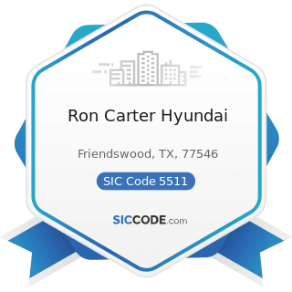 Ron Carter Hyundai - SIC Code 5511 - Motor Vehicle Dealers (New and Used)