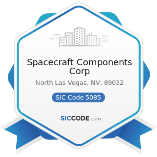 Spacecraft Components Corp - SIC Code 5085 - Industrial Supplies