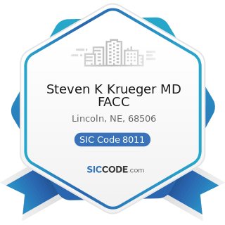 Steven K Krueger MD FACC - SIC Code 8011 - Offices and Clinics of Doctors of Medicine