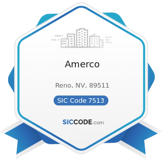 Amerco - SIC Code 7513 - Truck Rental and Leasing without Drivers