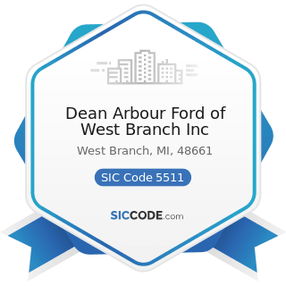 Dean Arbour Ford of West Branch Inc - SIC Code 5511 - Motor Vehicle Dealers (New and Used)