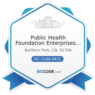 Public Health Foundation Enterprises Wic - SIC Code 9431 - Administration of Public Health...