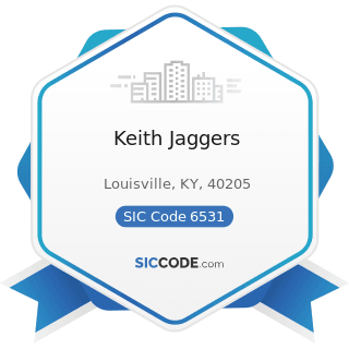 Keith Jaggers - SIC Code 6531 - Real Estate Agents and Managers