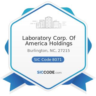 Laboratory Corp. Of America Holdings - SIC Code 8071 - Medical Laboratories