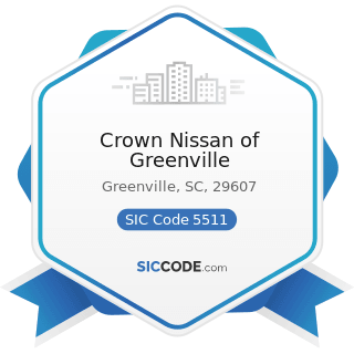 Crown Nissan of Greenville - SIC Code 5511 - Motor Vehicle Dealers (New and Used)