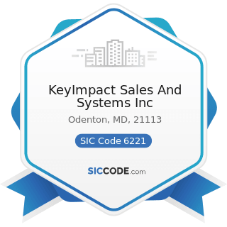 KeyImpact Sales And Systems Inc - SIC Code 6221 - Commodity Contracts Brokers and Dealers