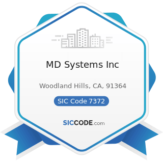MD Systems Inc - SIC Code 7372 - Prepackaged Software