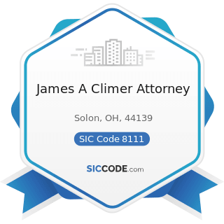 James A Climer Attorney - SIC Code 8111 - Legal Services