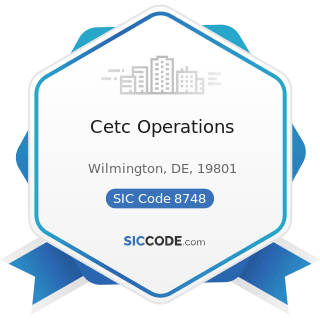 Cetc Operations - SIC Code 8748 - Business Consulting Services, Not Elsewhere Classified