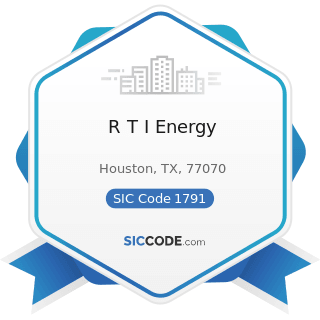R T I Energy - SIC Code 1791 - Structural Steel Erection