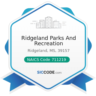 Ridgeland Parks And Recreation - NAICS Code 711219 - Other Spectator Sports