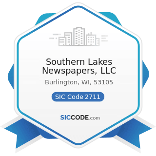 Southern Lakes Newspapers, LLC - SIC Code 2711 - Newspapers: Publishing, or Publishing and...