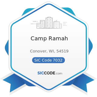 Camp Ramah - SIC Code 7032 - Sporting and Recreational Camps