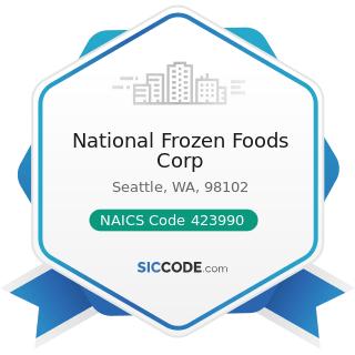 National Frozen Foods Corp - NAICS Code 423990 - Other Miscellaneous Durable Goods Merchant...