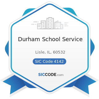 Durham School Service - SIC Code 4142 - Bus Charter Service, except Local