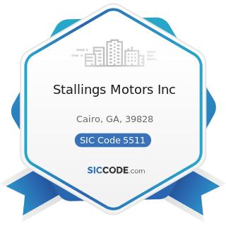 Stallings Motors Inc - SIC Code 5511 - Motor Vehicle Dealers (New and Used)