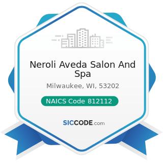 Neroli Aveda Salon And Spa - NAICS Code 812112 - Beauty Salons
