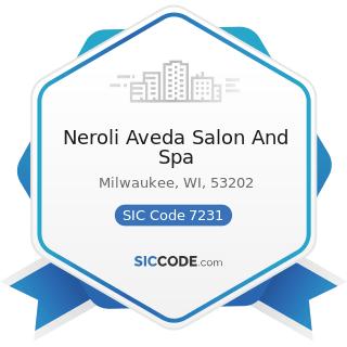 Neroli Aveda Salon And Spa - SIC Code 7231 - Beauty Shops