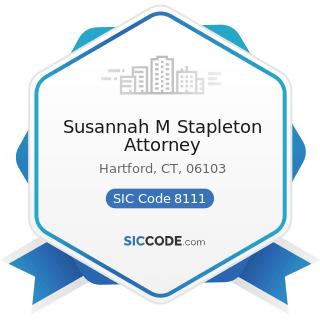Susannah M Stapleton Attorney - SIC Code 8111 - Legal Services