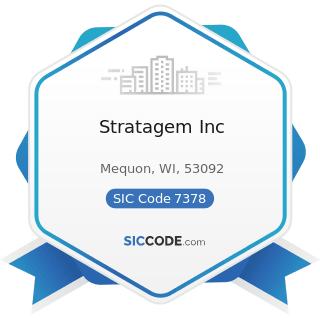 Stratagem Inc - SIC Code 7378 - Computer Maintenance and Repair