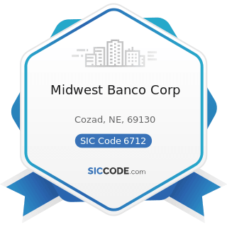 Midwest Banco Corp - SIC Code 6712 - Offices of Bank Holding Companies