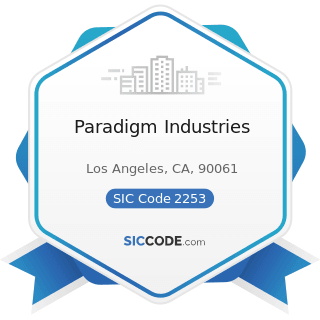 Paradigm Industries - SIC Code 2253 - Knit Outerwear Mills