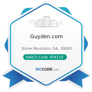 Guyden.com - NAICS Code 454110 - Electronic Shopping and Mail-Order Houses