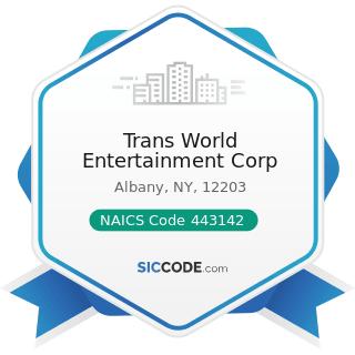 Trans World Entertainment Corp - NAICS Code 443142 - Electronics Stores